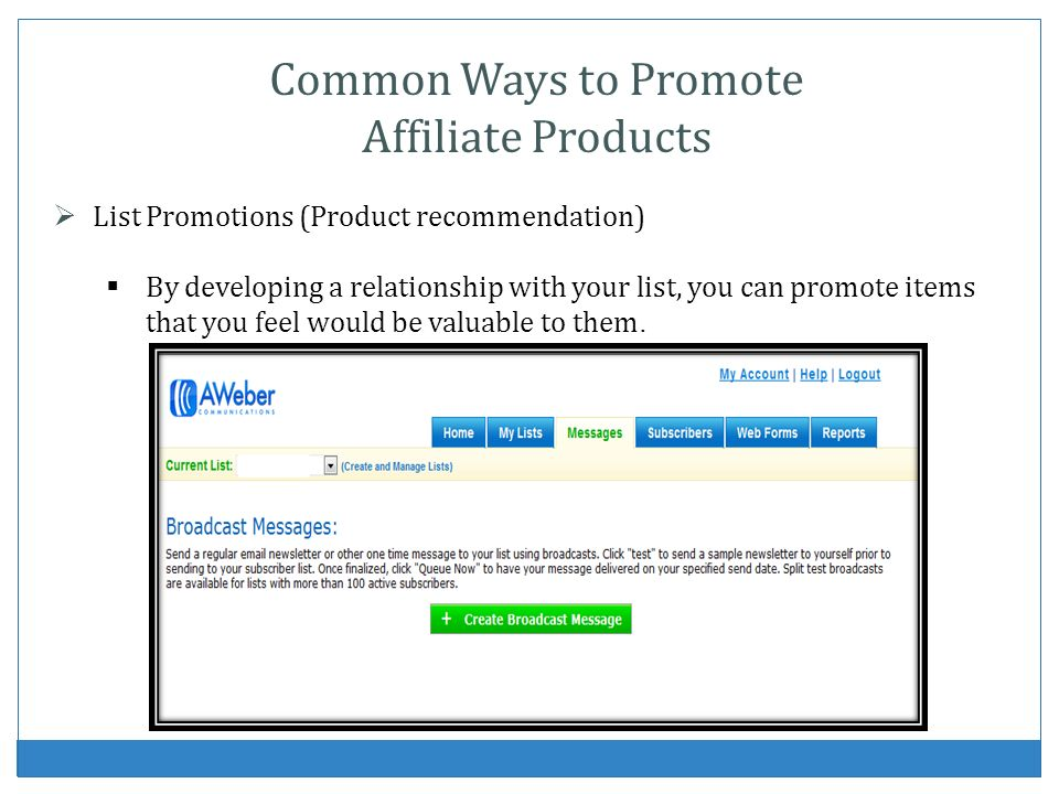 Common Ways to Promote Affiliate Products