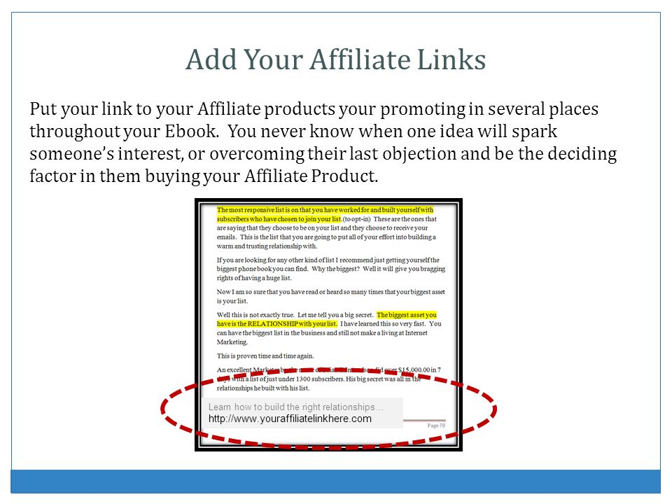 Add Your Affiliate Links