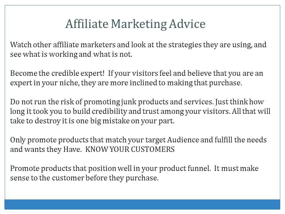 Affiliate Marketing Advice