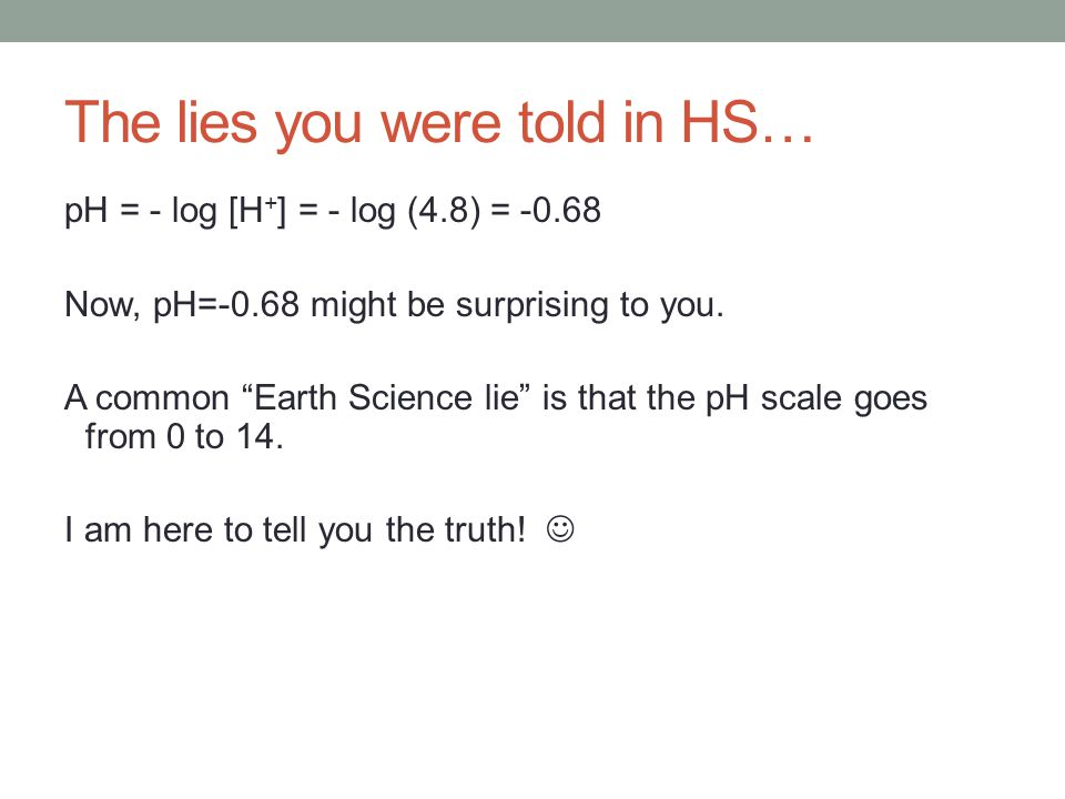 The lies you were told in HS…
