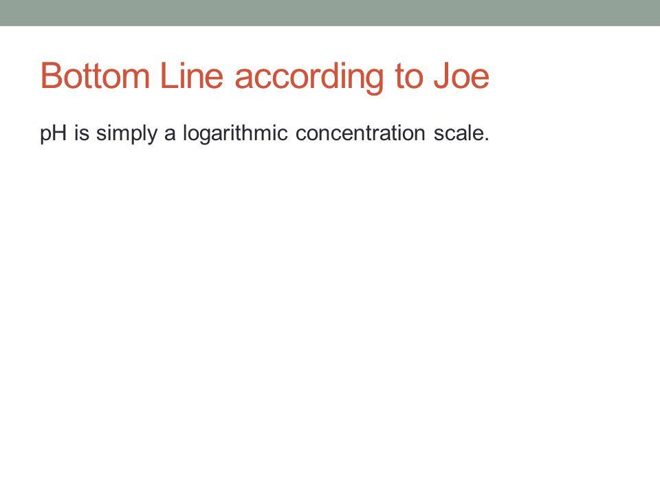 Bottom Line according to Joe