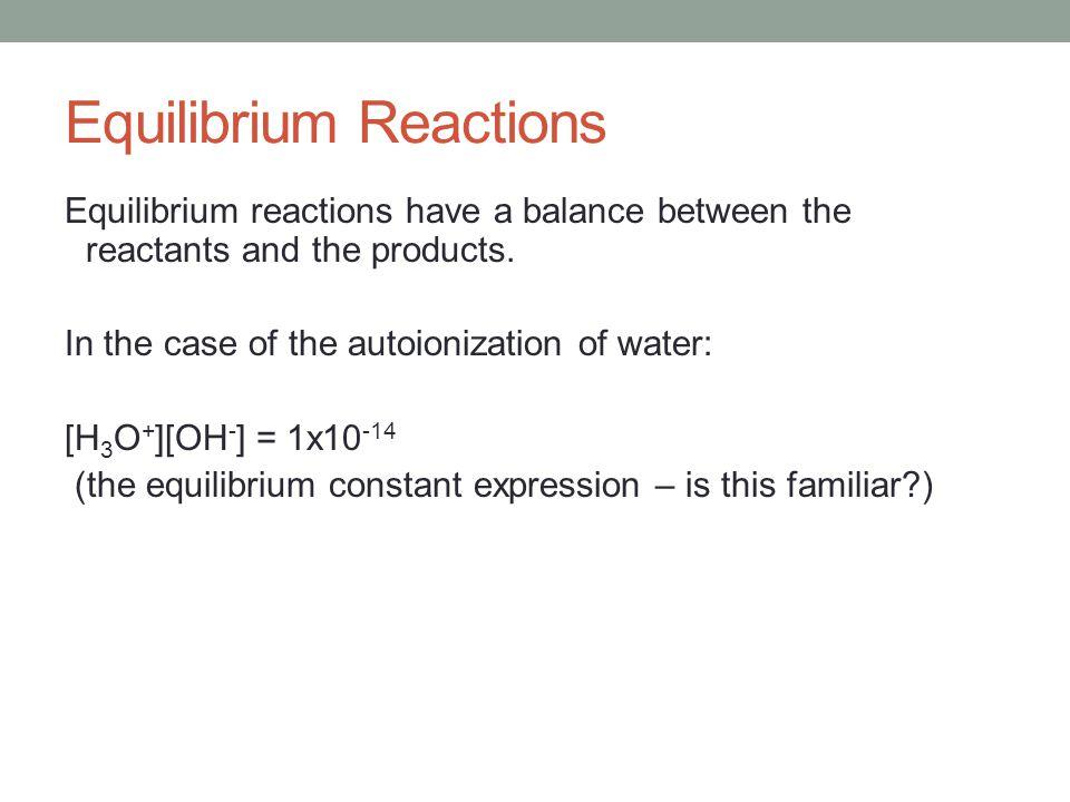 Equilibrium Reactions