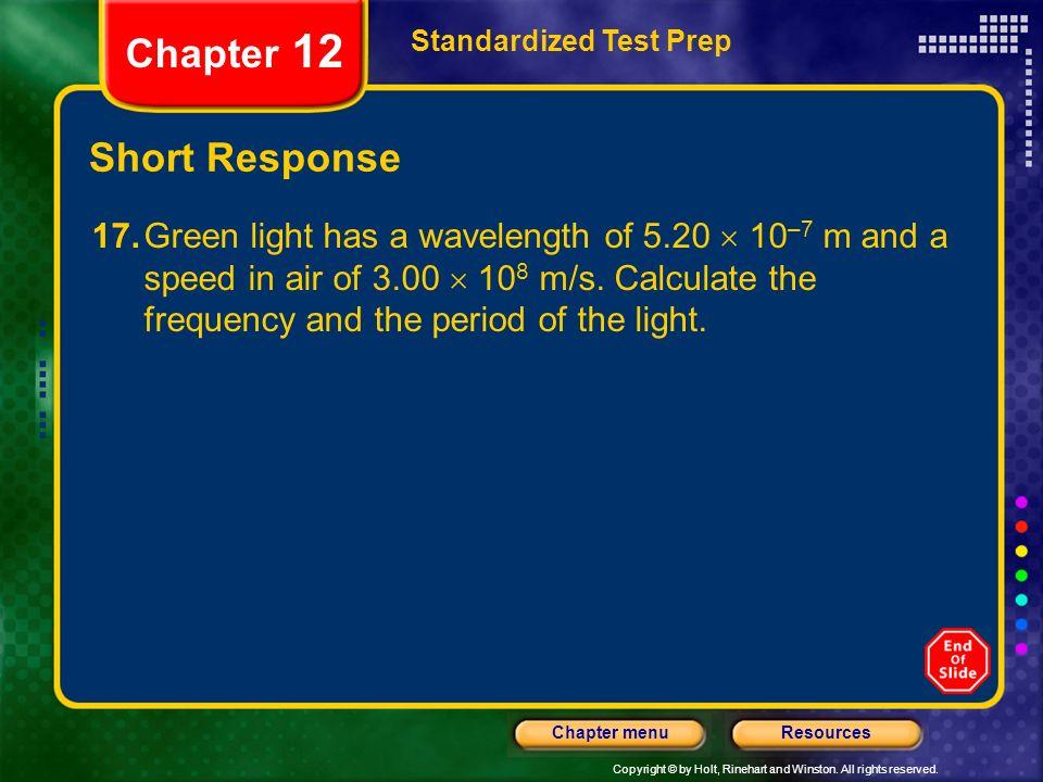 Chapter 12 Short Response