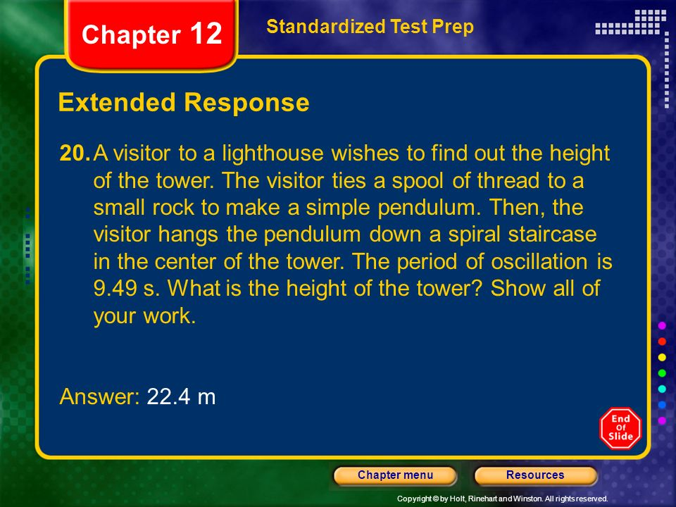 Chapter 12 Extended Response