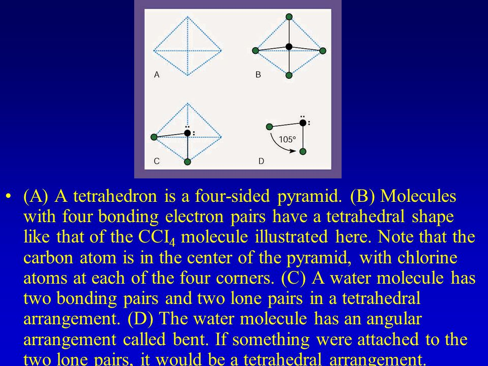 (A) A tetrahedron is a four-sided pyramid