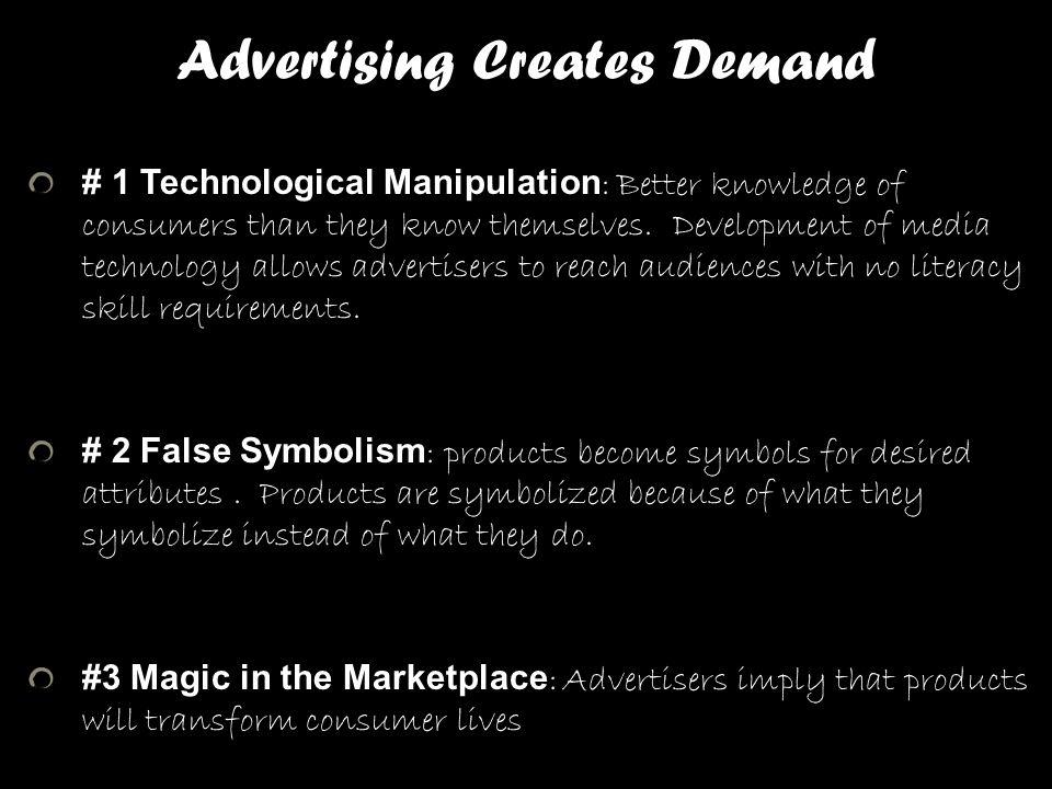 Advertising Creates Demand