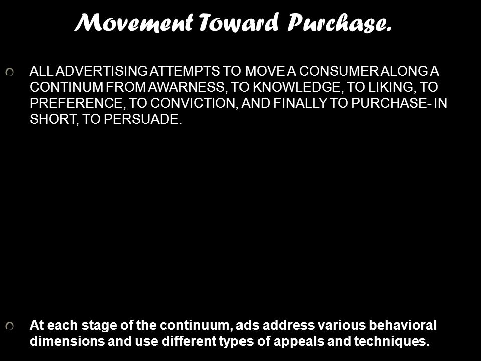 Movement Toward Purchase.