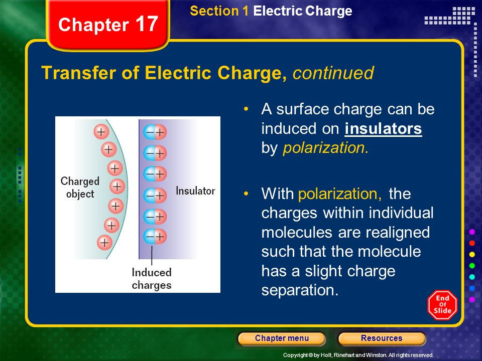 Transfer of Electric Charge, continued