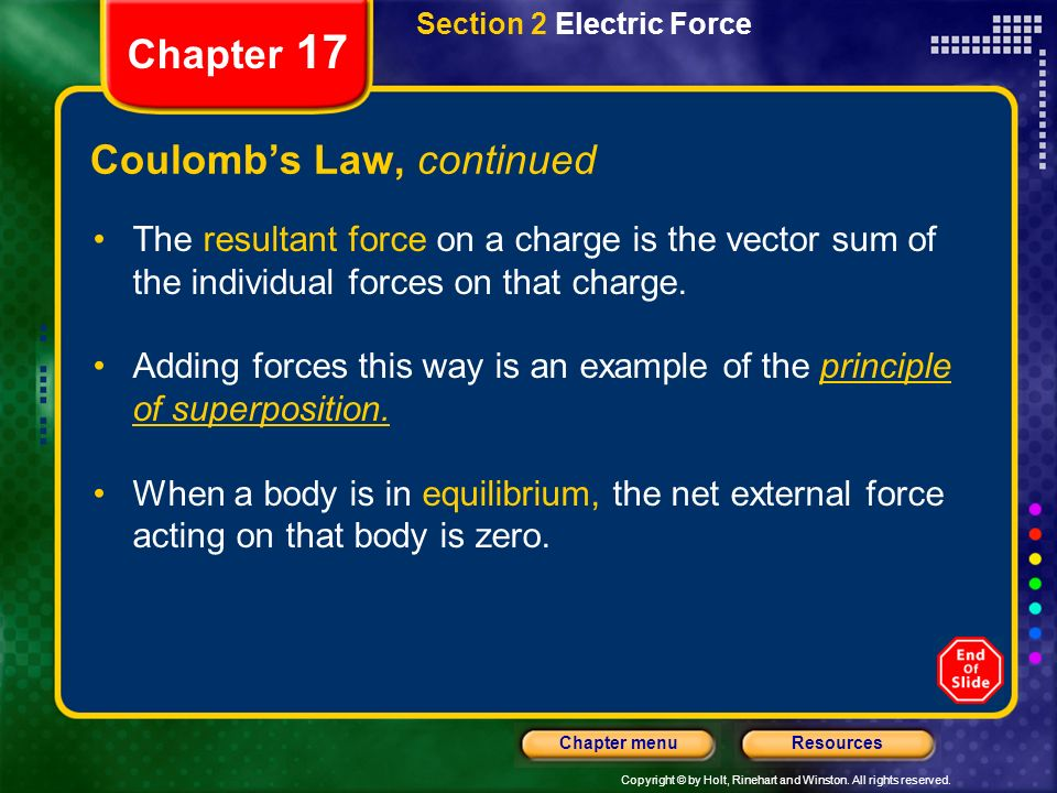 Coulomb's Law, continued