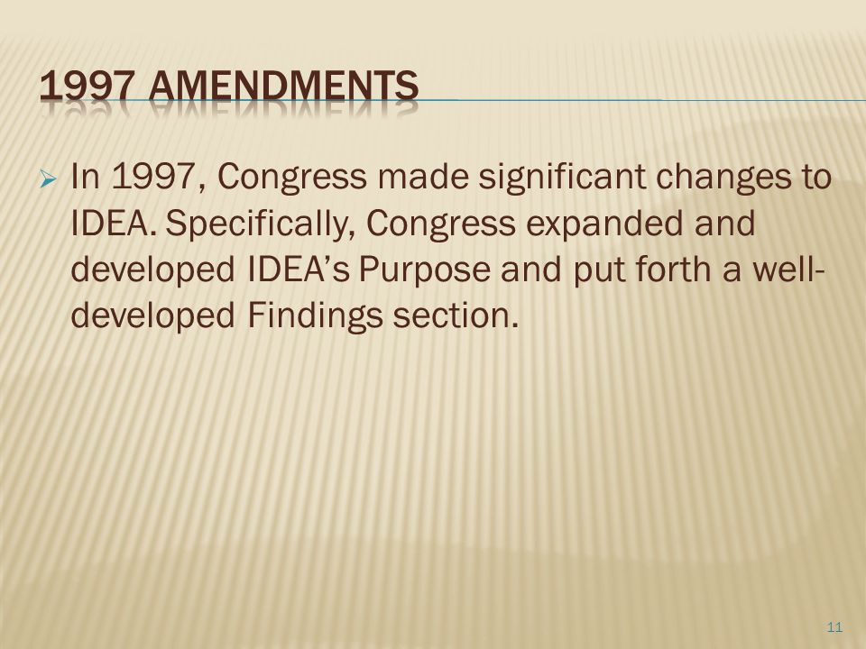 1997 Amendments