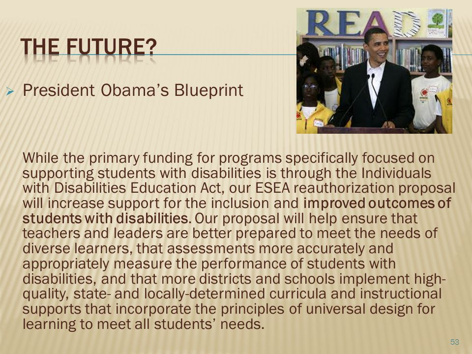 the Future President Obama's Blueprint