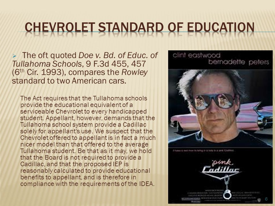 Chevrolet Standard of Education