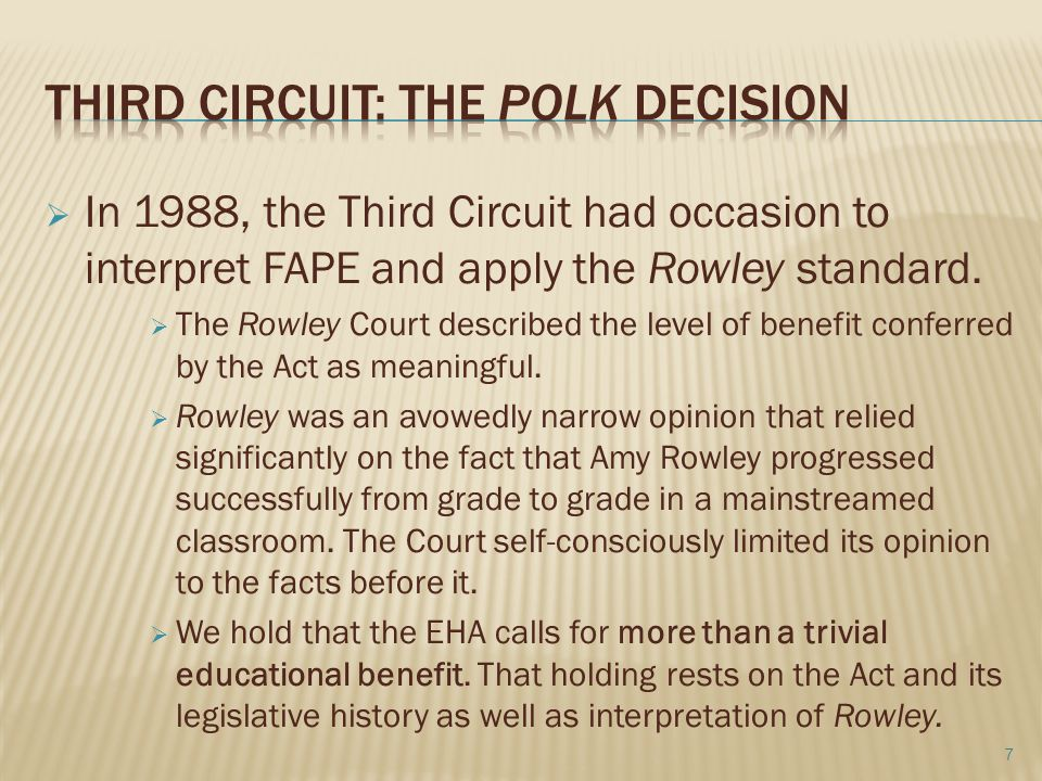 Third circuit: the polk decision
