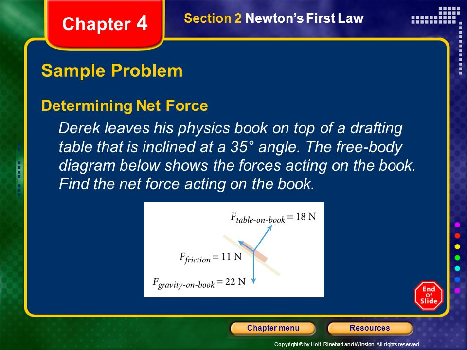 Chapter 4 Sample Problem Determining Net Force