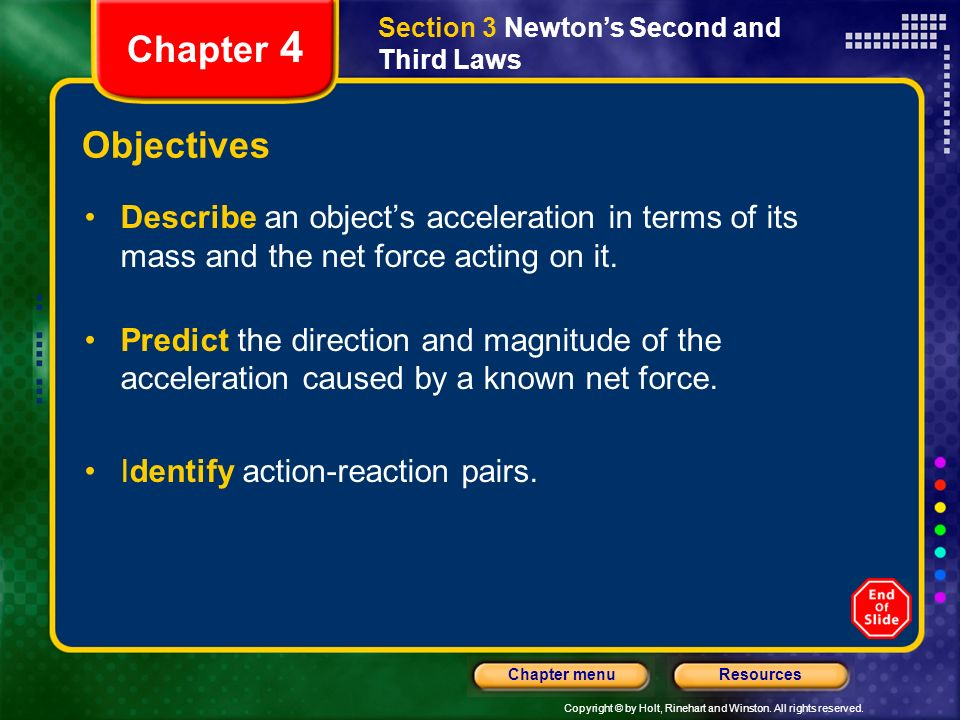 Section 3 Newton's Second and Third Laws