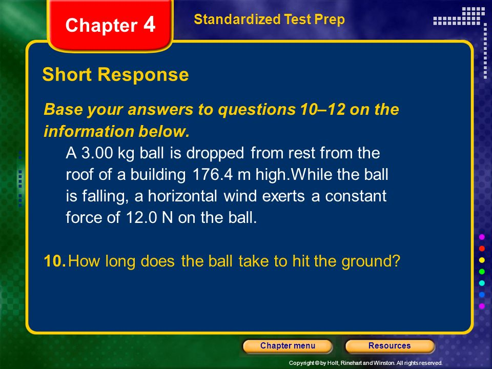 Chapter 4 Short Response Base your answers to questions 10–12 on the