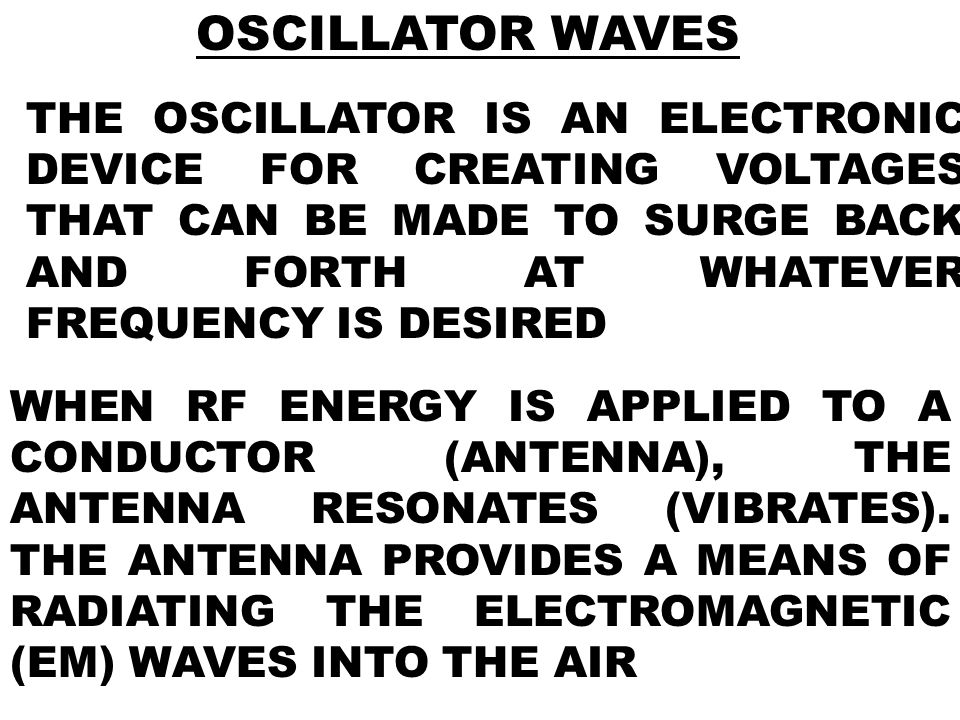 OSCILLATOR WAVES