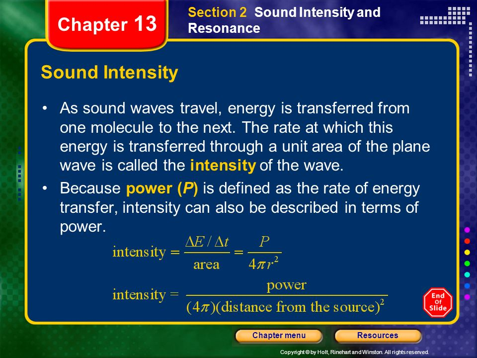 Chapter 13 Sound Intensity