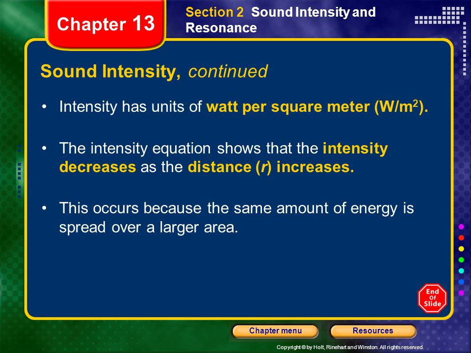 Sound Intensity, continued
