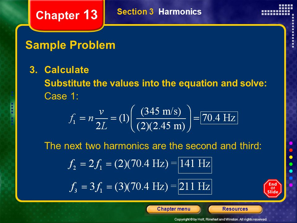Chapter 13 Sample Problem 3. Calculate