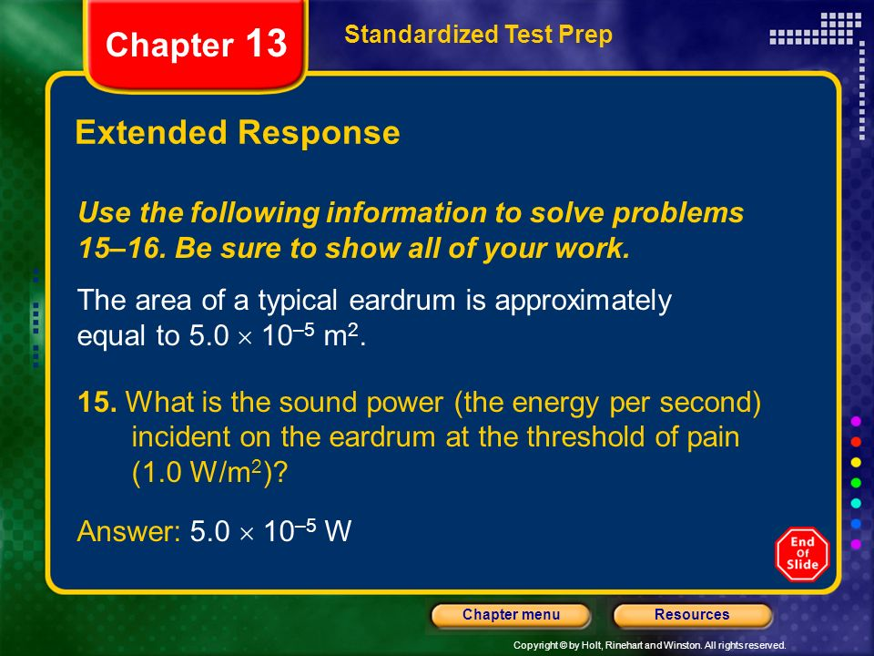 Chapter 13 Extended Response