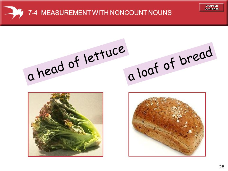 7-4 MEASUREMENT WITH NONCOUNT NOUNS