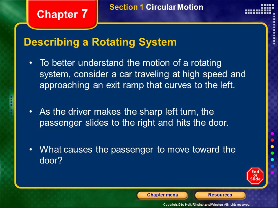 Describing a Rotating System