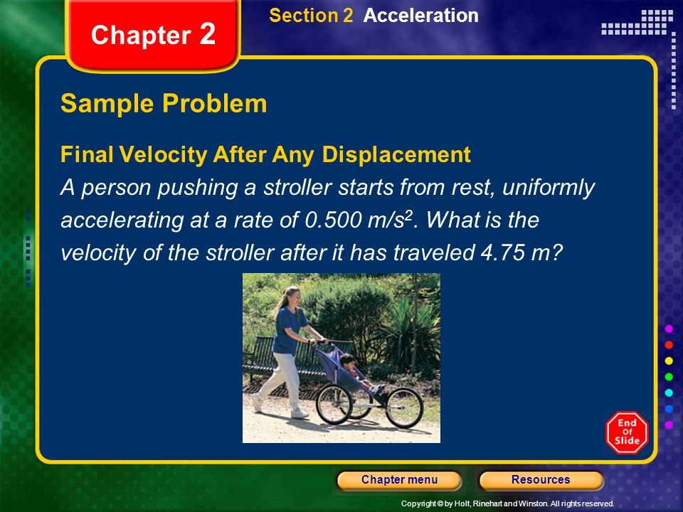 Chapter 2 Sample Problem Final Velocity After Any Displacement