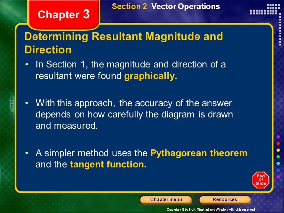Determining Resultant Magnitude and Direction
