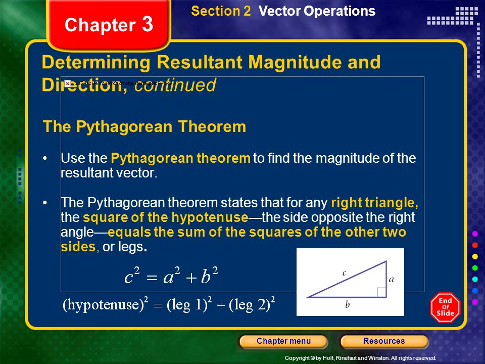 Determining Resultant Magnitude and Direction, continued