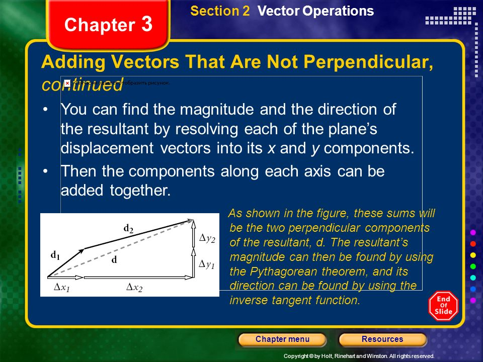 Adding Vectors That Are Not Perpendicular, continued