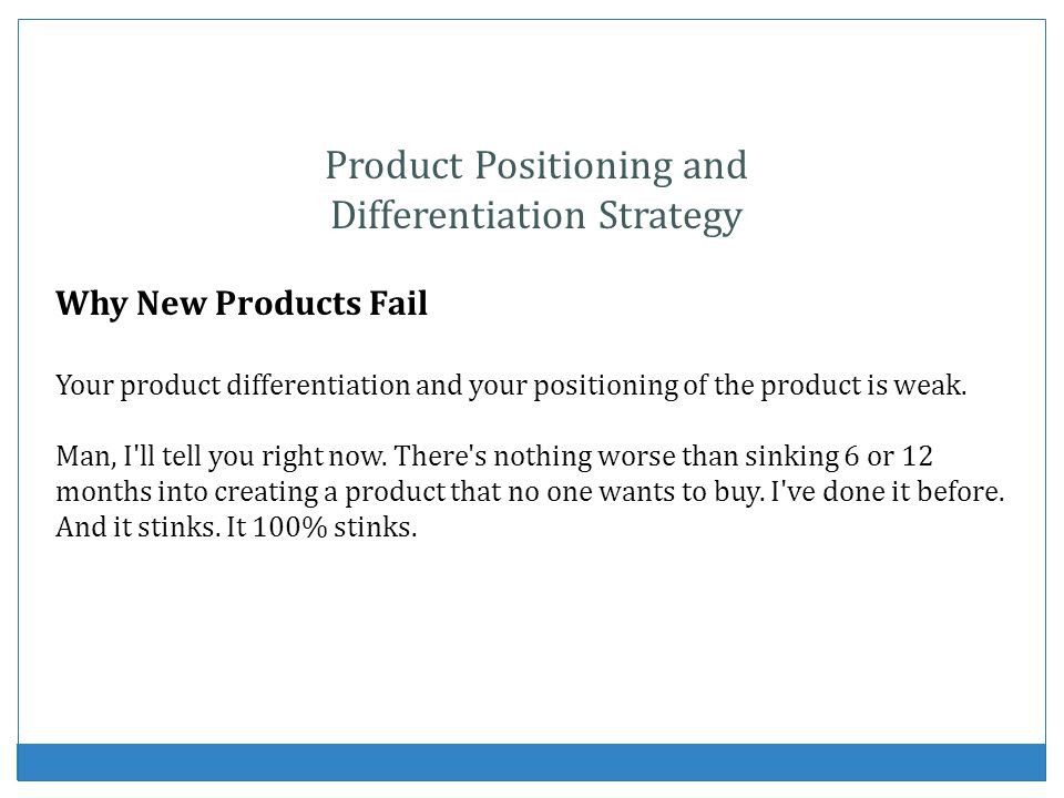 Product Positioning and Differentiation Strategy