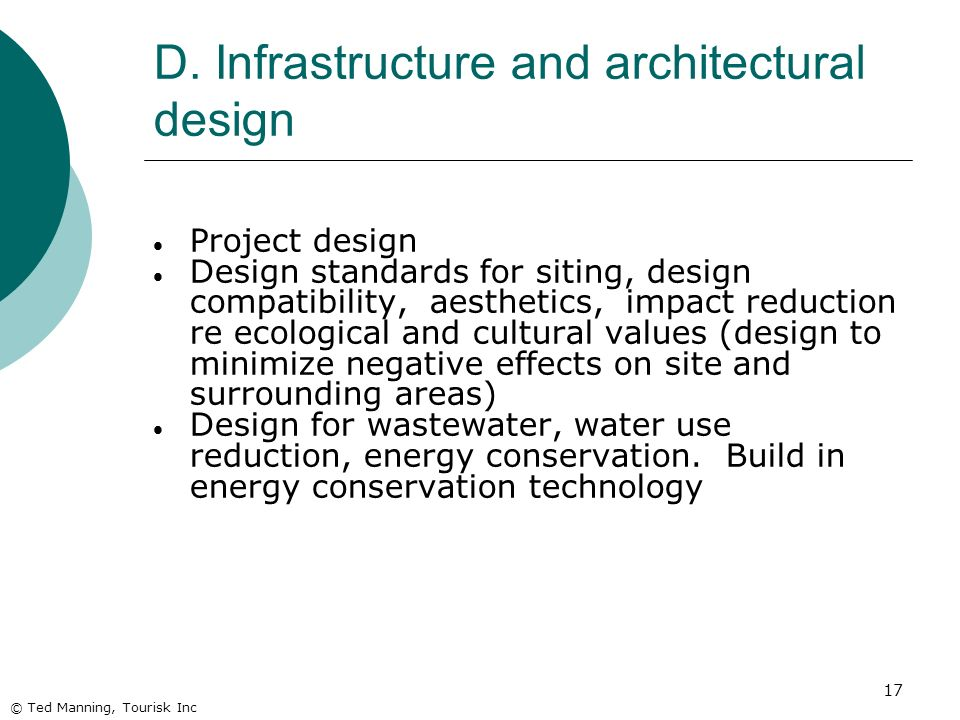 D. Infrastructure and architectural design