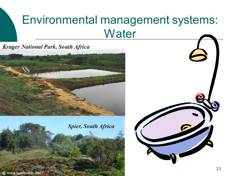 Environmental management systems: Water