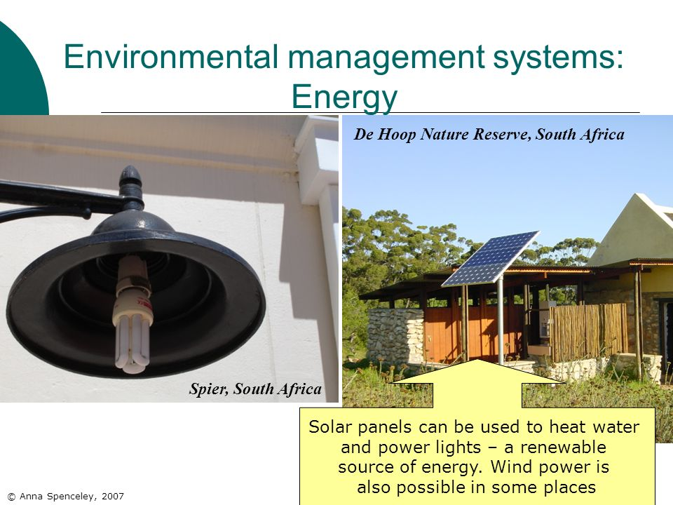 Environmental management systems: Energy