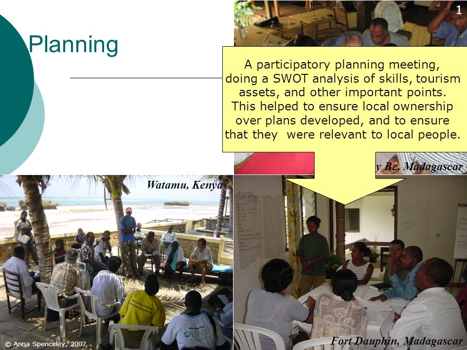 Planning 1 A participatory planning meeting,