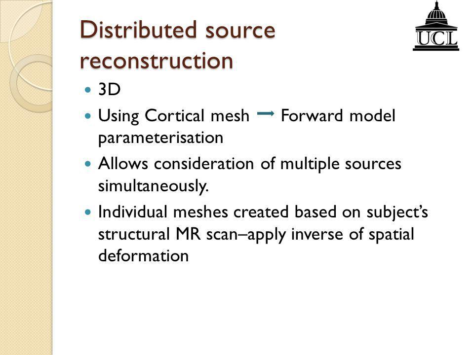 Distributed source reconstruction