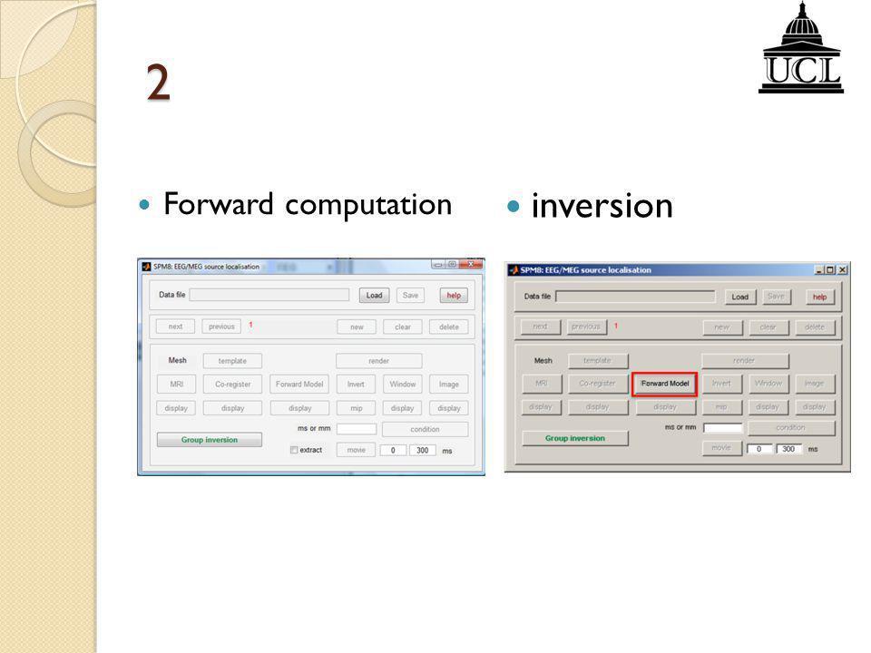 2 inversion Forward computation