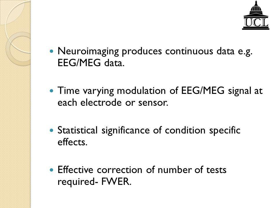 Neuroimaging produces continuous data e.g. EEG/MEG data.