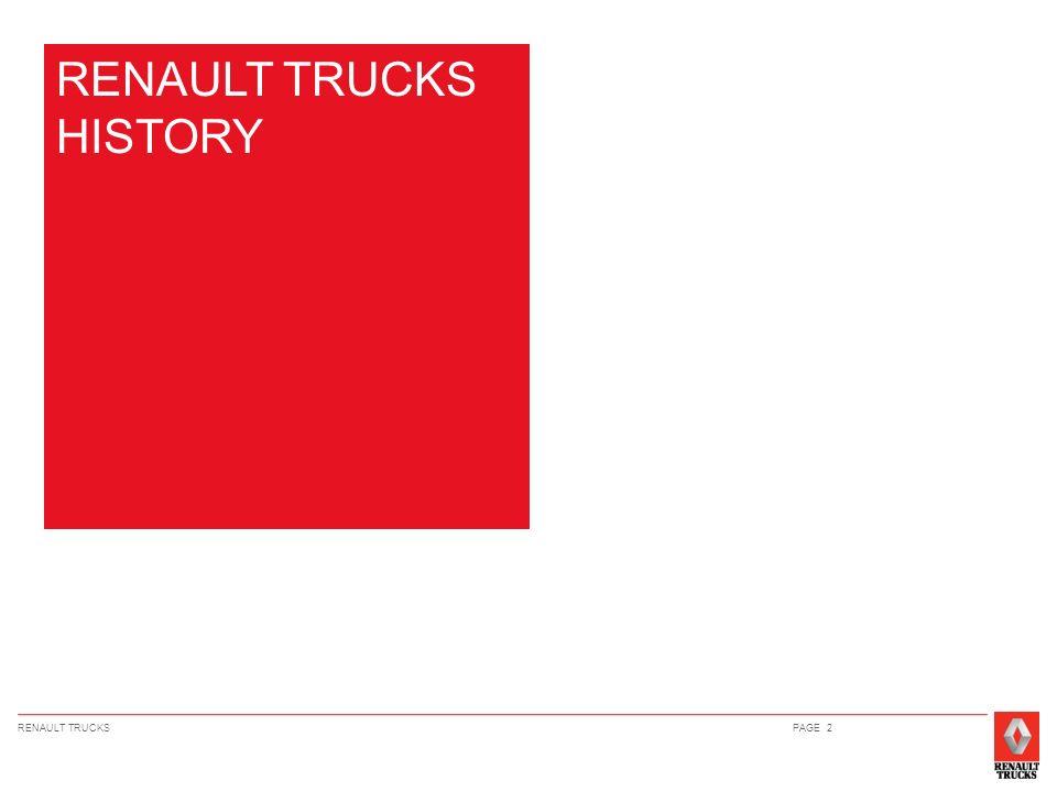 RENAULT TRUCKS HISTORY