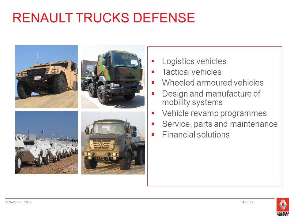 RENAULT TRUCKS DEFENSE