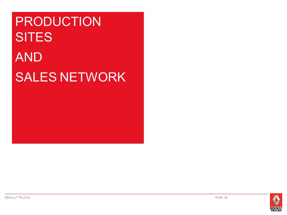 PRODUCTION SITES AND SALES NETWORK