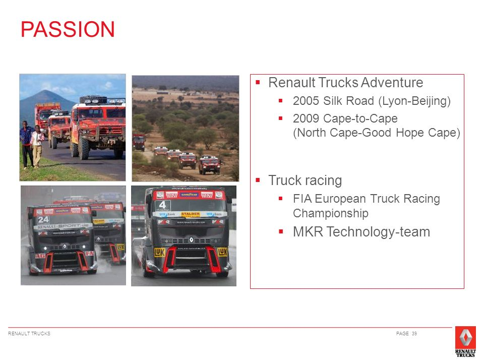 PASSION Renault Trucks Adventure Truck racing MKR Technology-team