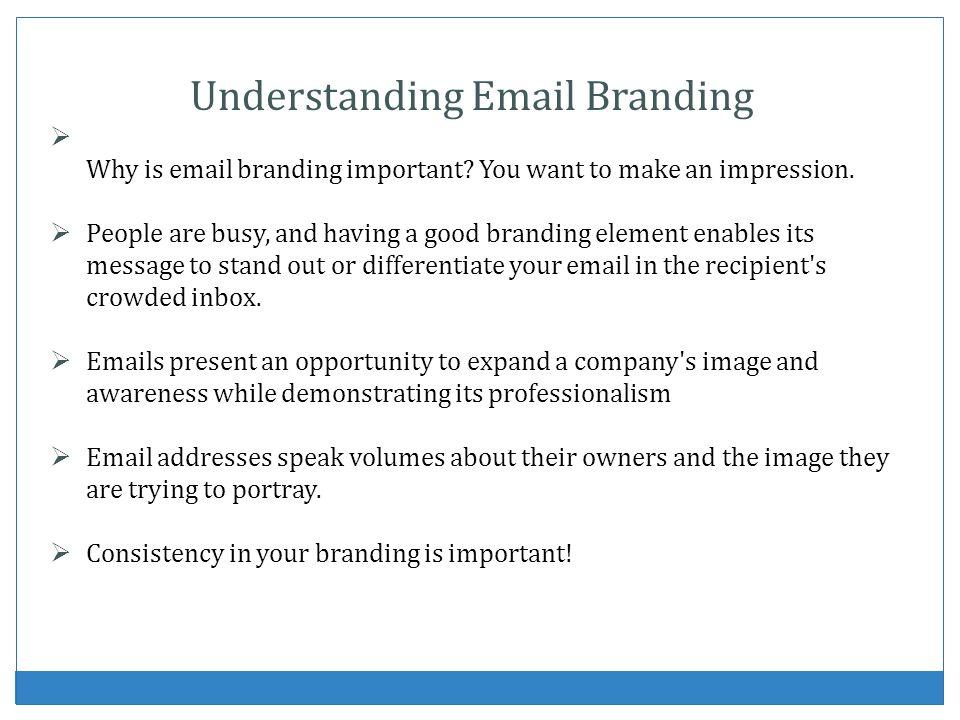 Understanding Email Branding