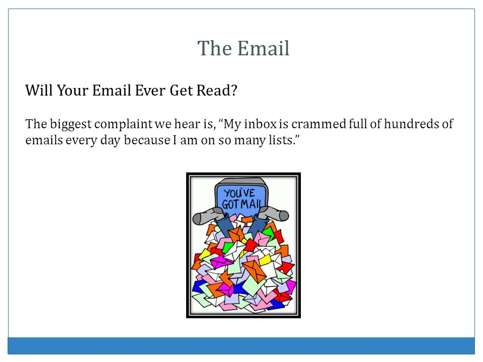 The Email Will Your Email Ever Get Read