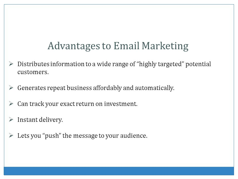 Advantages to Email Marketing