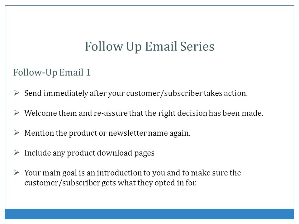 Follow Up Email Series Follow-Up Email 1