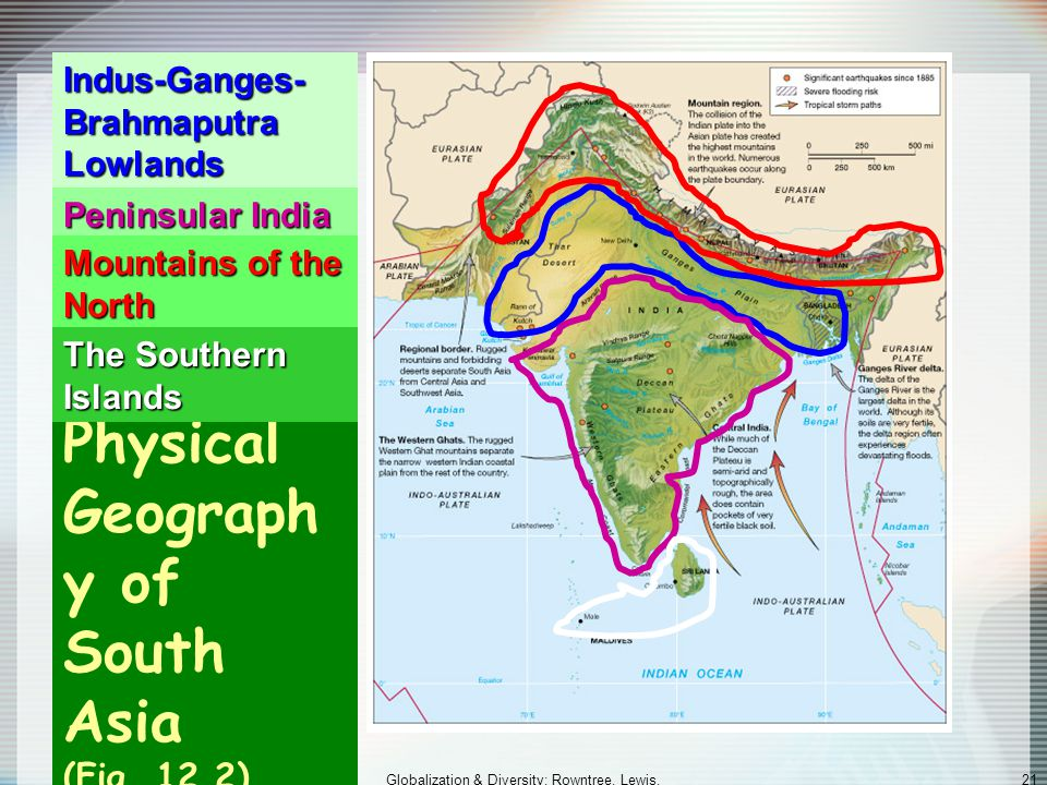Physical Geography of South Asia (Fig. 12.2)