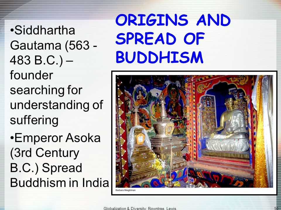 ORIGINS AND SPREAD OF BUDDHISM