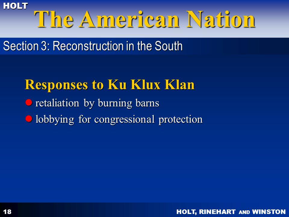 Responses to Ku Klux Klan